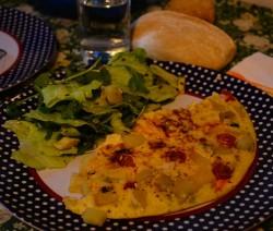 Frittata con Pomodorini e Patate