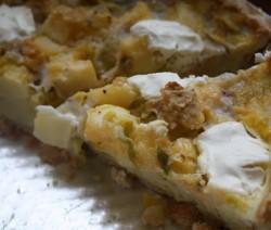 Torta Salata Patate Porri e Stracchino