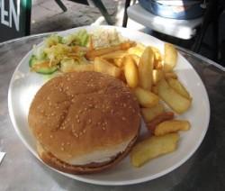 hamburger di pollo e melanzane