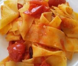 pappardelle olive e pecorino