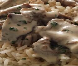 risotto con crema di funghi