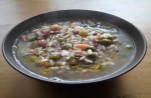 minestrone di legumi