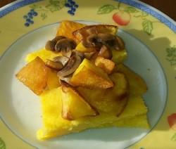 polenta al tartufo con funghi e patate