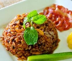 timballo di riso con mortadella