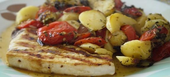 Pesce Spada Al Forno Con Giardiniera Di Verdure Ricette Al Forno