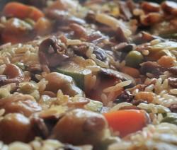 risotto con verdure mantecato al taleggio
