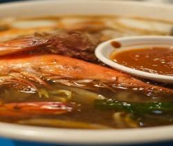 zuppa di gamberi all'orientale