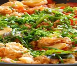 gamberi fritti con panure di cocco e salsa allo zenzero