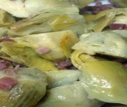 carciofini saltati con pancetta