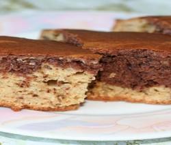 ciambella con burro di arachidi e cioccolato