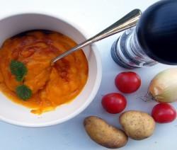 crema di zucca e carote bimby