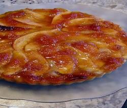crostata di pere caramellate