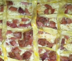 crostata di salumi e formaggi