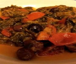 indivia saltata con pomodorini e olive