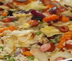 insalata di riso tiepida