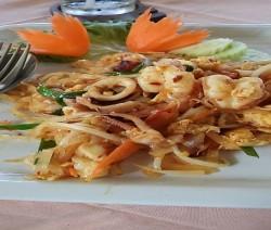 vermicelli di soia con frutti di mare