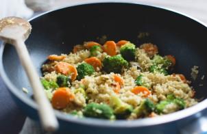 couscous con tonno, broccoletti e scamorza