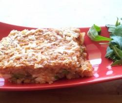 mattonella di riso alle melanzane