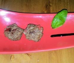 polpette al forno con pomodoro e basilico