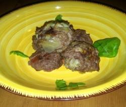 polpettine di carne e carciofi