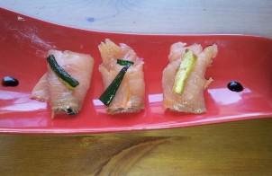 involtini di salmone e zucchine