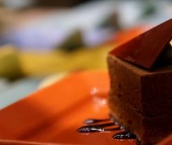 nuvola di cioccolato con pere
