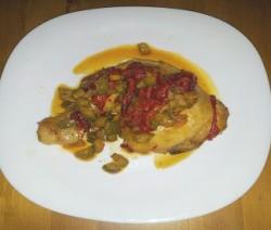pollo con verdure dell'orto