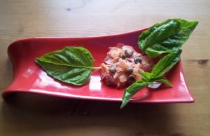 tartare di salmone affumicato