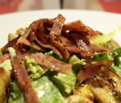 insalata di funghi e bacon croccante