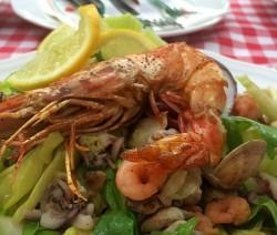 insalata di mare grigliata