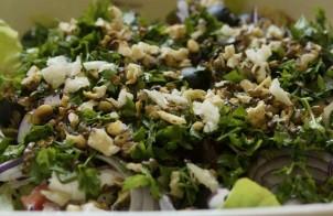 insalata di rucola, noci e parmigiano