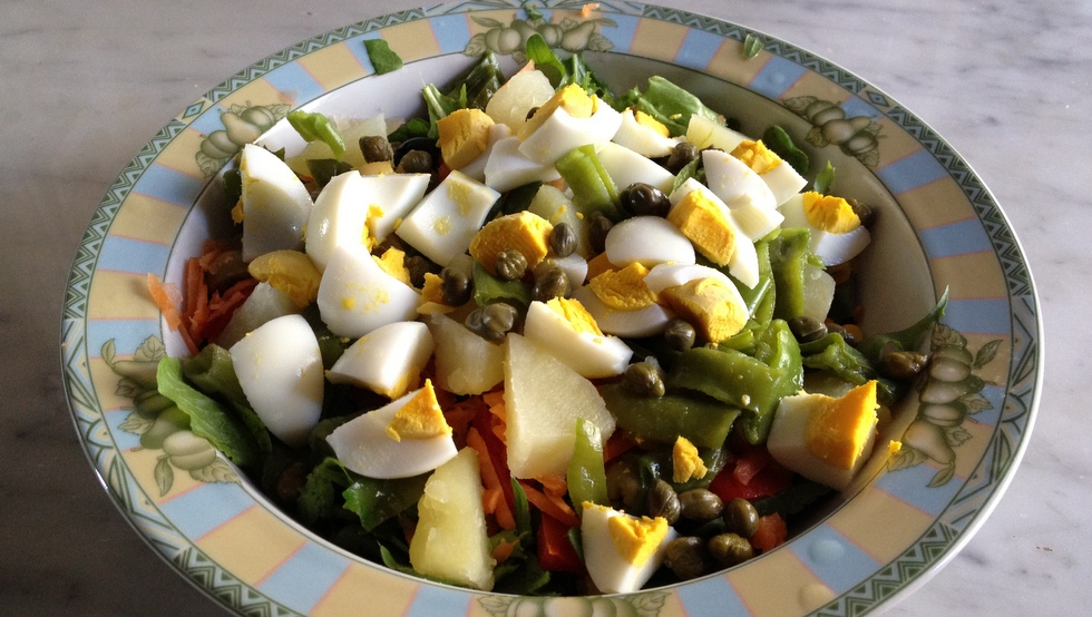 Insalatona con uova patate e fagiolini ricette estive e for Ricette cucina estive
