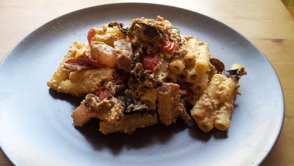 Pasta melanzane guanciale e ricotta ricette for Ricette esotiche