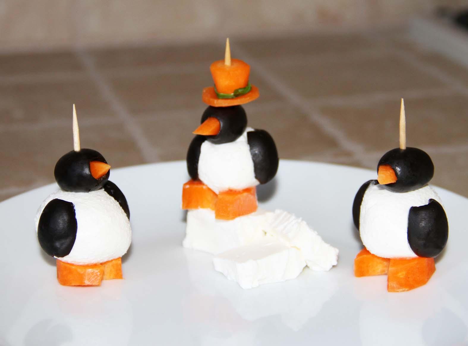 Antipasti Di Natale Pinguini Con Olive E Formaggio.Pinguini Antipastini Ricettone