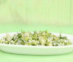 risotto con verza e finocchietto selvatico