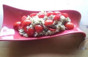 insalata di pesto con pomodorini