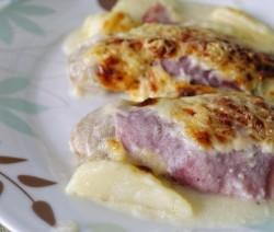 cannelloni di prosciutto con patate e funghi