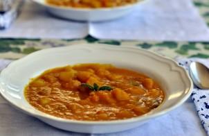 zuppa di zucca e menta