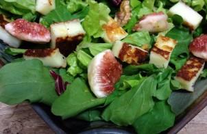 insalata con fichi e tomini