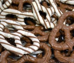 pretzels al cioccolato