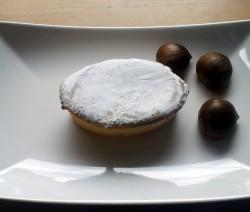 tortino con crema di castagne