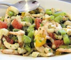 insalata di gamberi e frutta