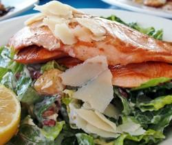 scaloppine di salmone al limone e grana