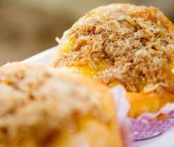 muffin con tonno e scalogno fritto