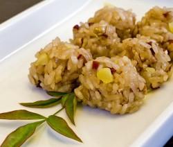 tortini di riso con tonno e radicchio