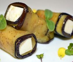 involtini vegetariani di tofu e melanzane