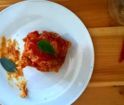 parmigiana di pleurotus e mozzarella