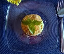 tortini di patate con carciofi e speck