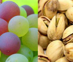 antipasto vegetariano al pistacchio e uva